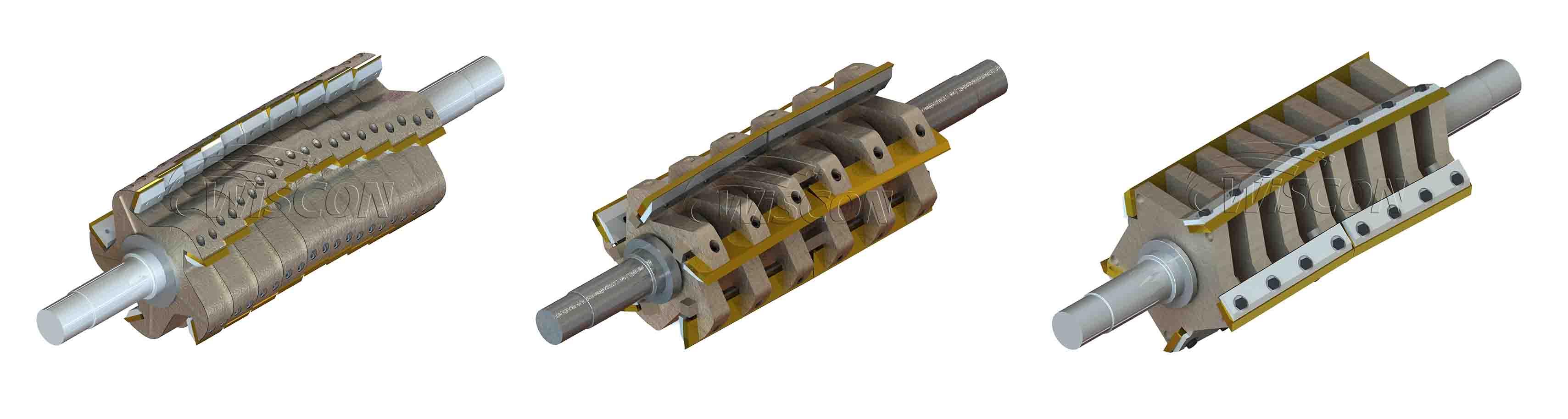 granulator rotor in 3D