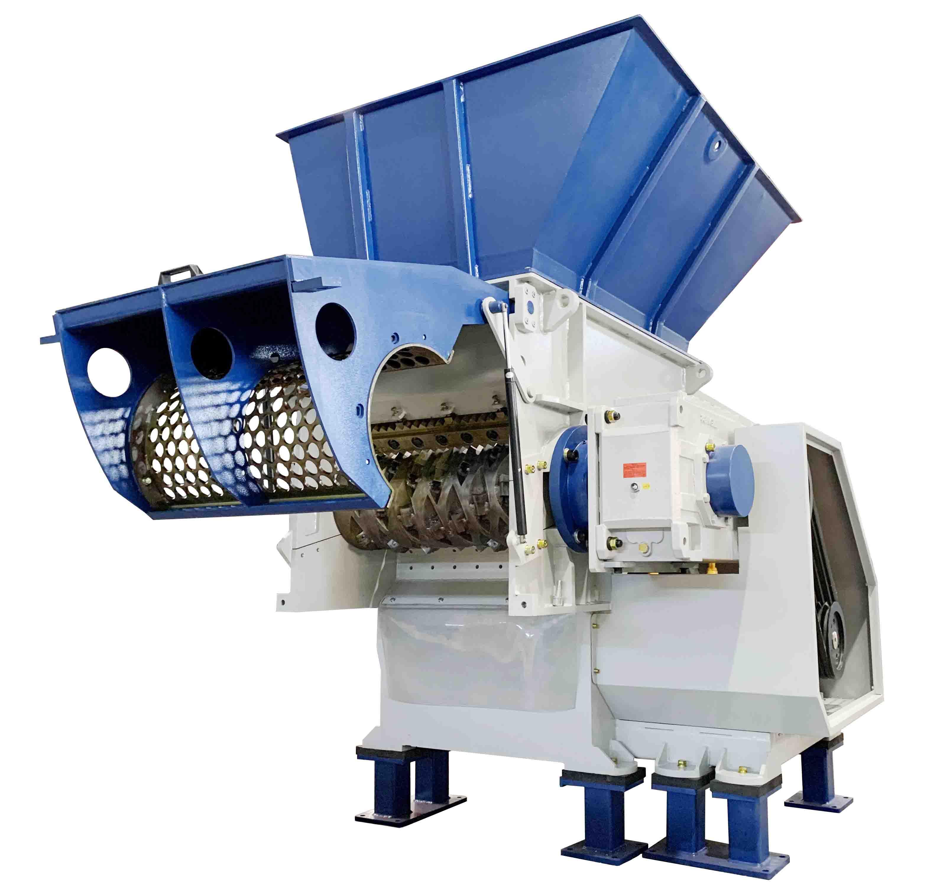 one shaft shredder machine