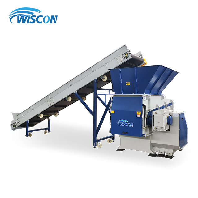 P380 Single Shaft Shredder & Belt Conveyor