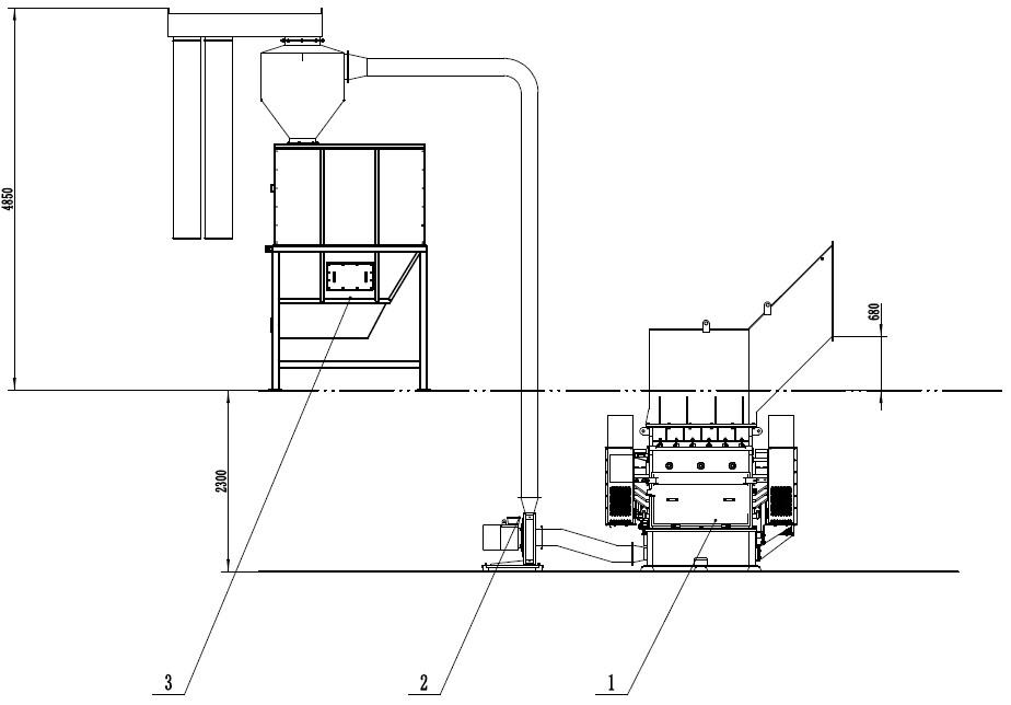 pipe shredding machine